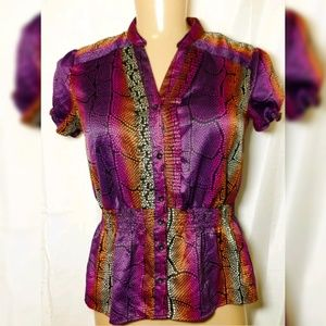 East 5th Womens Size XL Short Sleeves Button Up